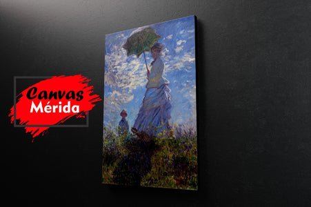 Woman with a parasol (Claude Monet) - Canvas Mérida Fine Print Art (4512386351243)