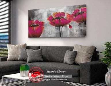 Sangria Flower - Canvas Mérida Fine Print Art