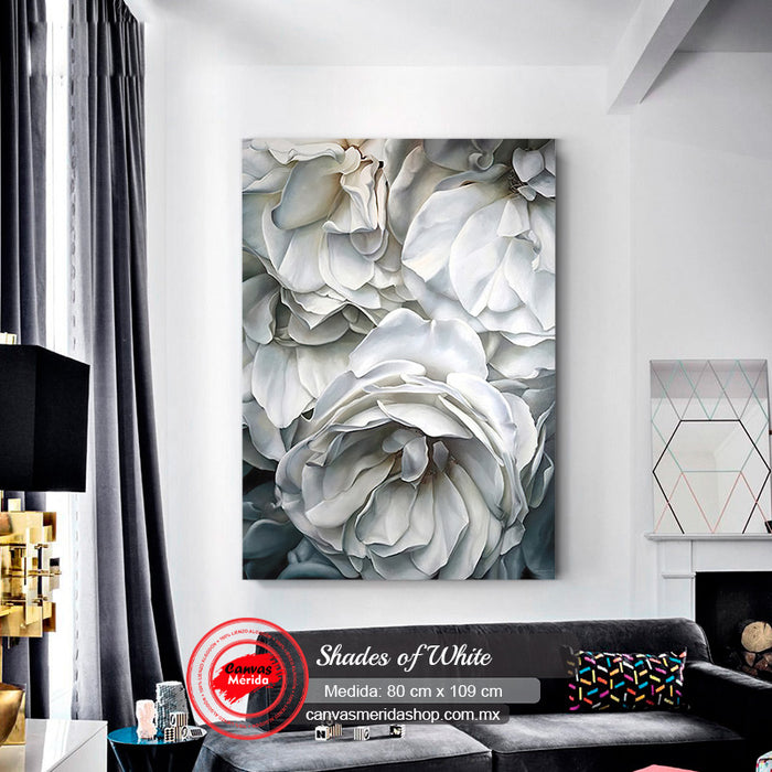 Shades Of White - Canvas Mérida Fine Print Art