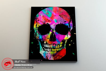 Skull # 16 - Canvas Mérida Fine Print Art