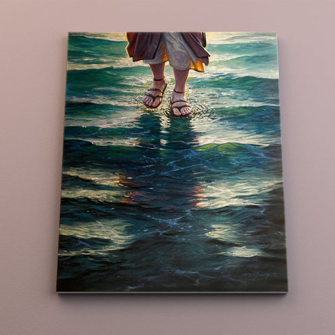 Walking on water - Canvas Mérida Fine Print Art