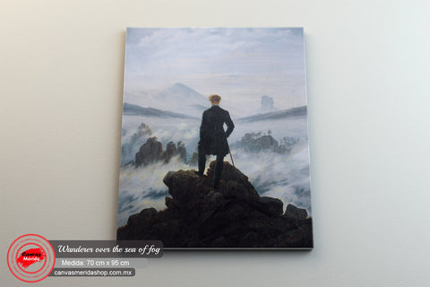 Wanderer Over The Sea Of Fog (vertical) - Canvas Mérida Fine Print Art