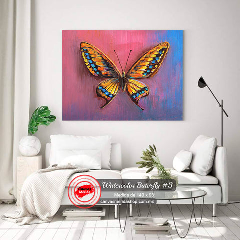 Watercolor Butterfly #3 - Canvas Mérida Fine Print Art