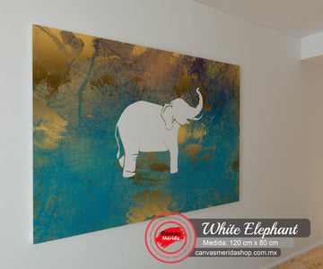 White Elephant - Canvas Mérida Fine Print Art