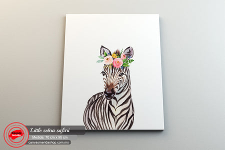 Little zebra safari (pequeña zebra) - Canvas Mérida Fine Print Art