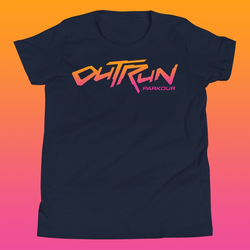 Kids Outrun Parkour Sunset Tee