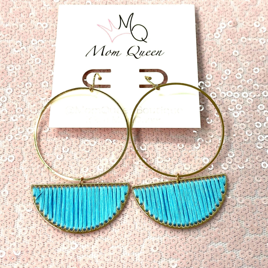 EARRING: BLUE DANGLE - MomQueenBoutique