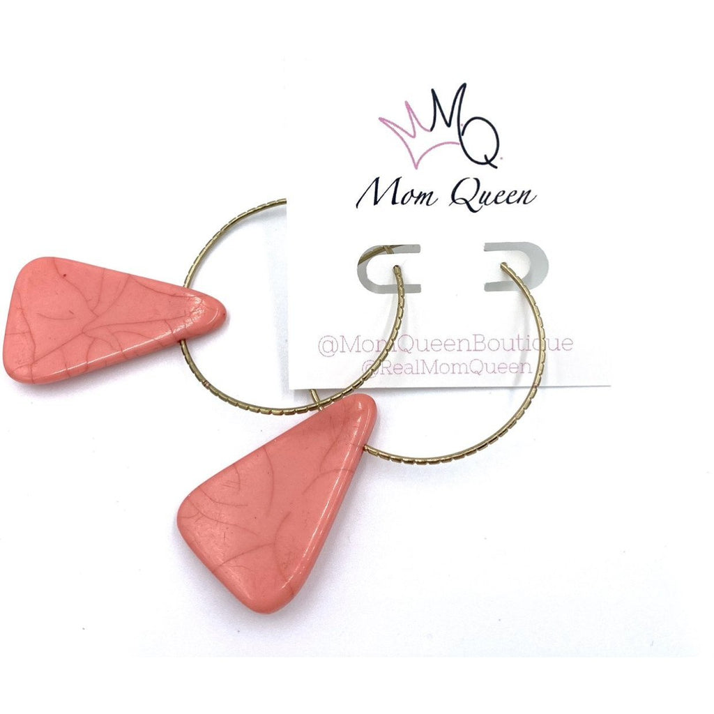 EARRING: Coral dangle - MomQueenBoutique