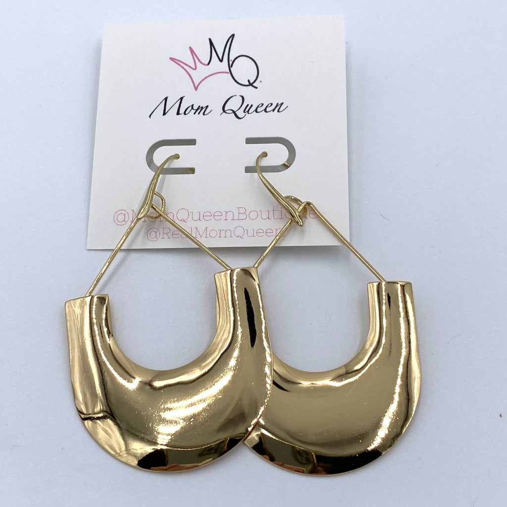 EARRING: GOLD SHAPE - MomQueenBoutique