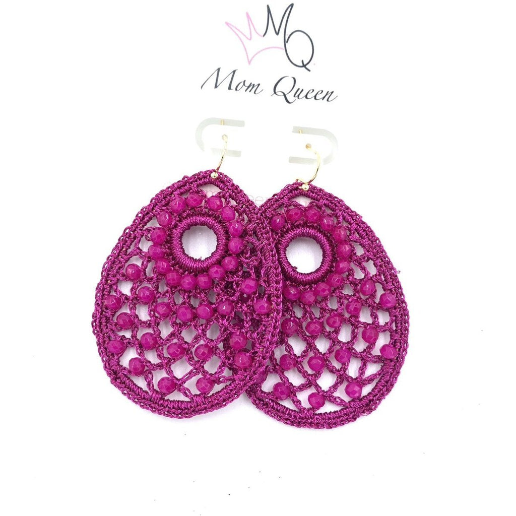 EARRING: Pink Braided - MomQueenBoutique