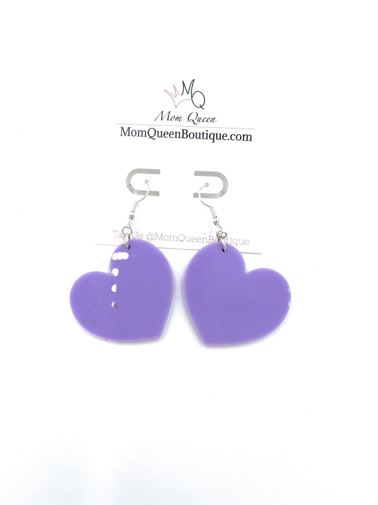 EARRING: #PurpleLove - MomQueenBoutique