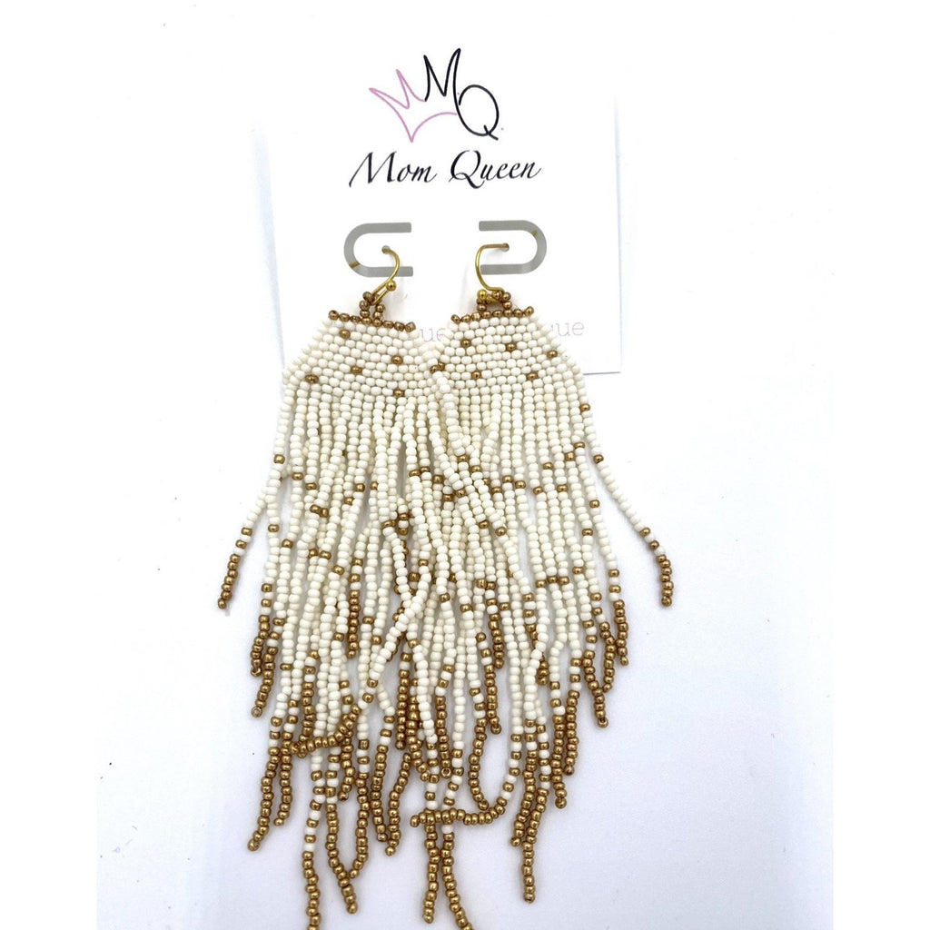 EARRING: White Squid - MomQueenBoutique