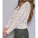 The Candy Sweater: Mixed Color Knit Top - MomQueenBoutique