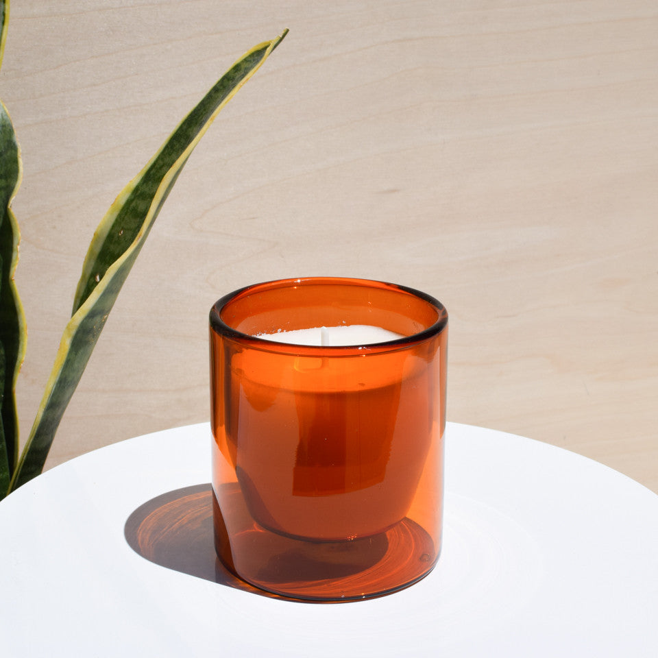 Yield Amber Candle