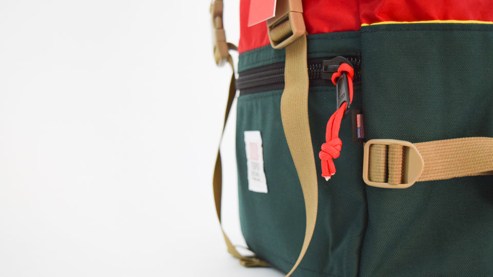 Topo Designs - Rover Pack (Forest/Red)   Commonplace