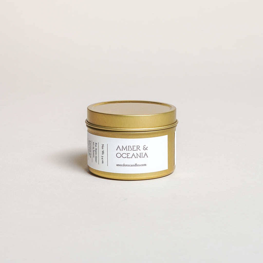 Amber & Oceania Candle (3.4 oz)
