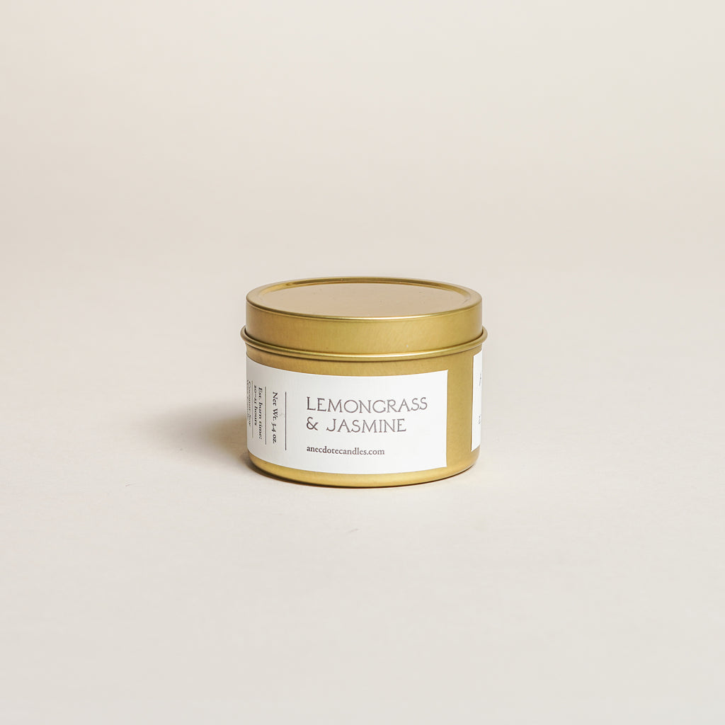 Lemongrass & Jasmine Candle (3.4 oz)