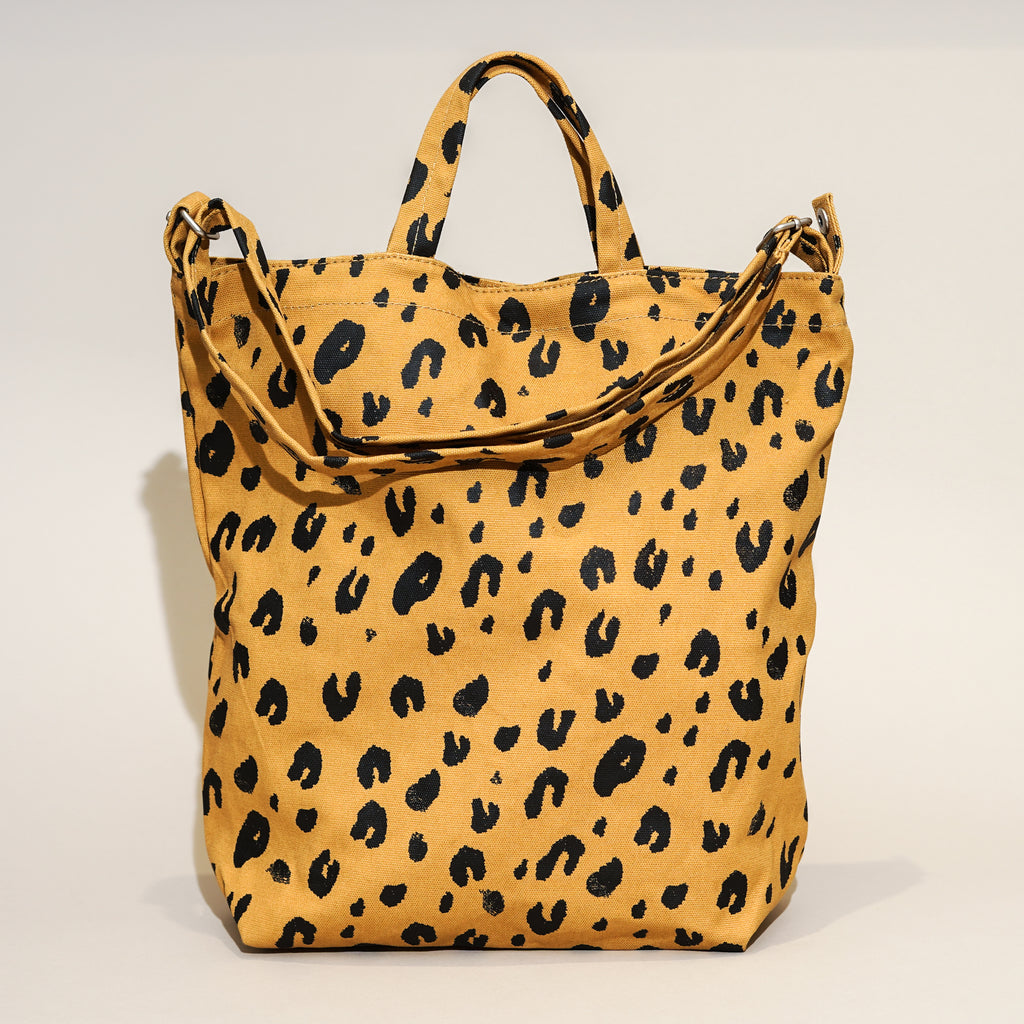 The Duck Bag from Baggu in Leopard.