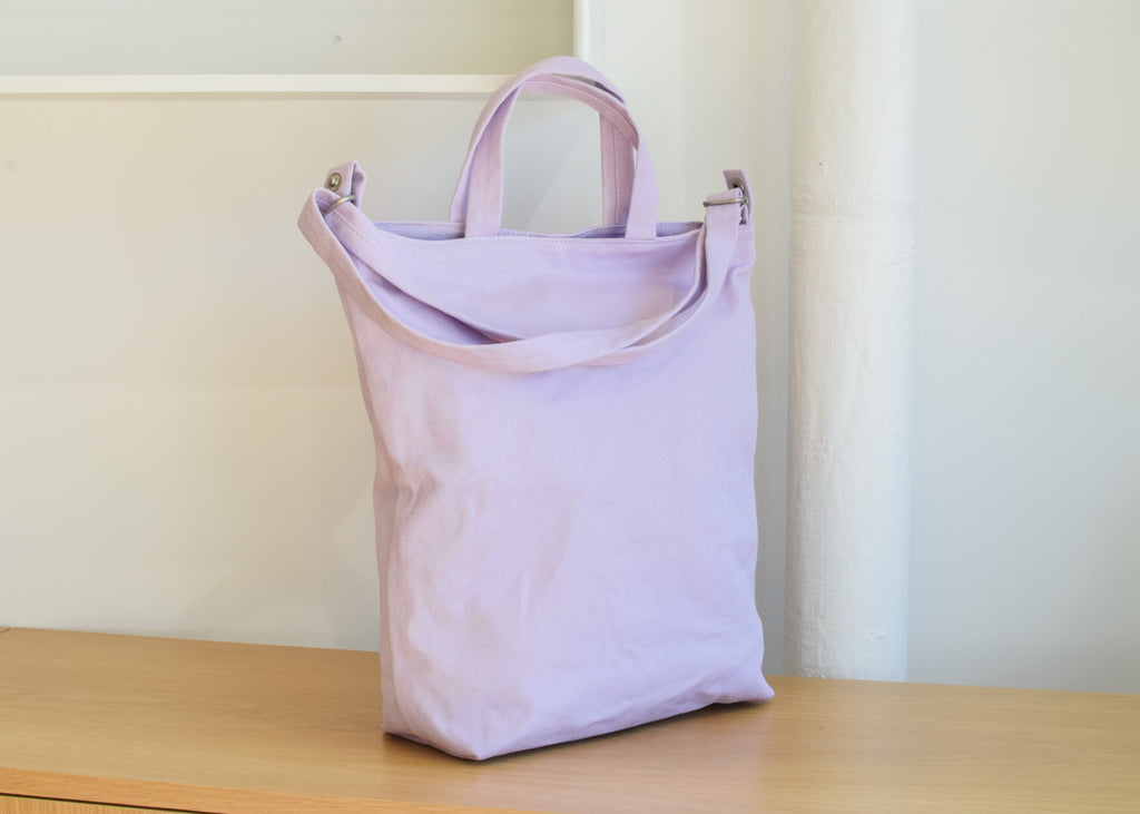 The Baggu Duck Bag in lilac, from Commonplace design shop in Milwaukee.