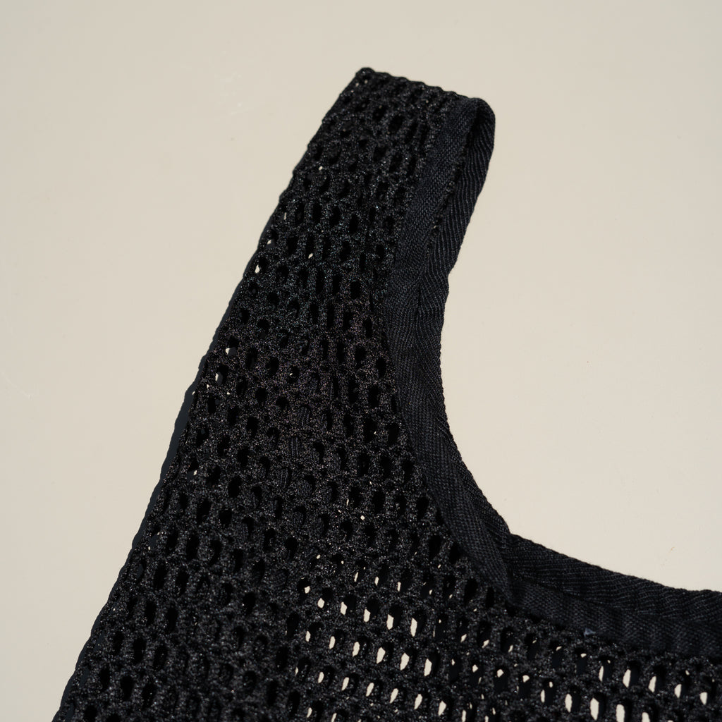 Detail shot of the Net Baggu in black.