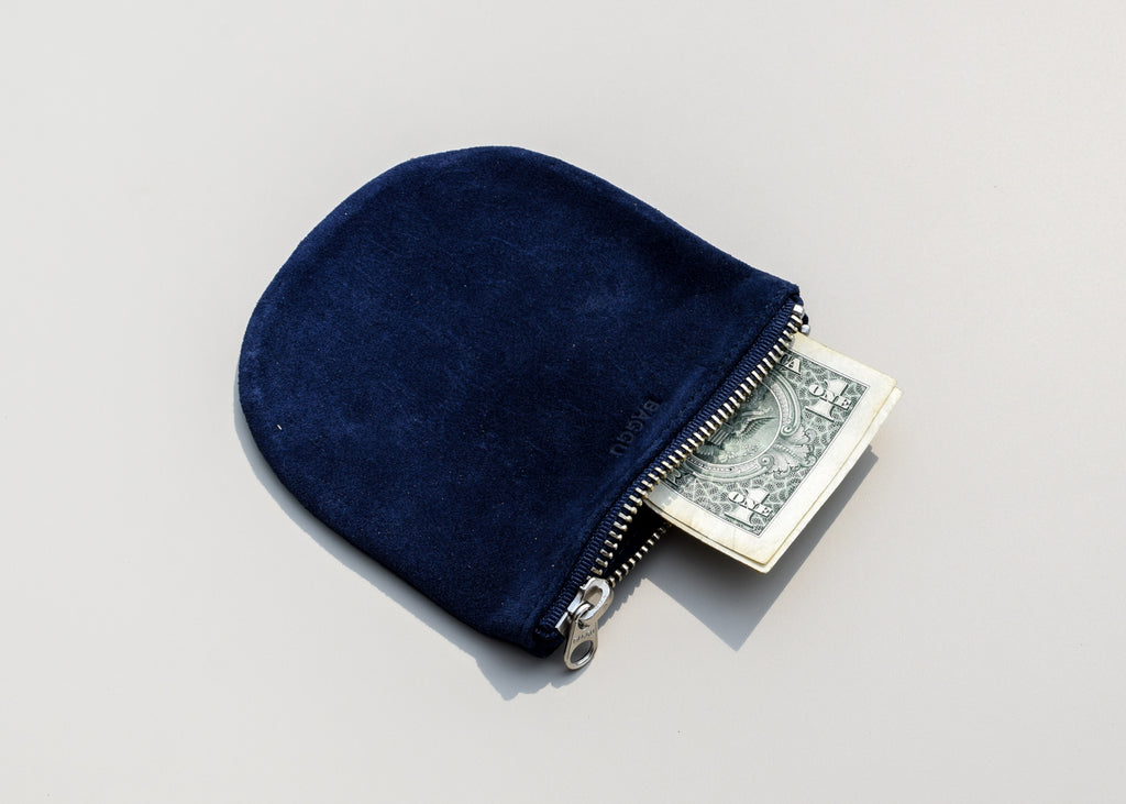 From Baggu, the small U Pouch in midnight blue - a simple clutch for everyday use.