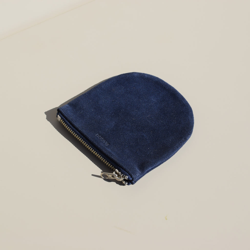 Small U Pouch (Midnight Suede)