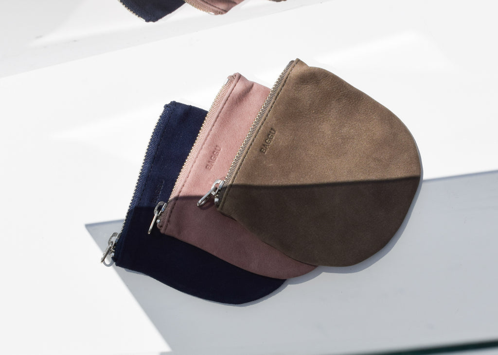 The U Pouch from Baggu is unlined and made in the USA.