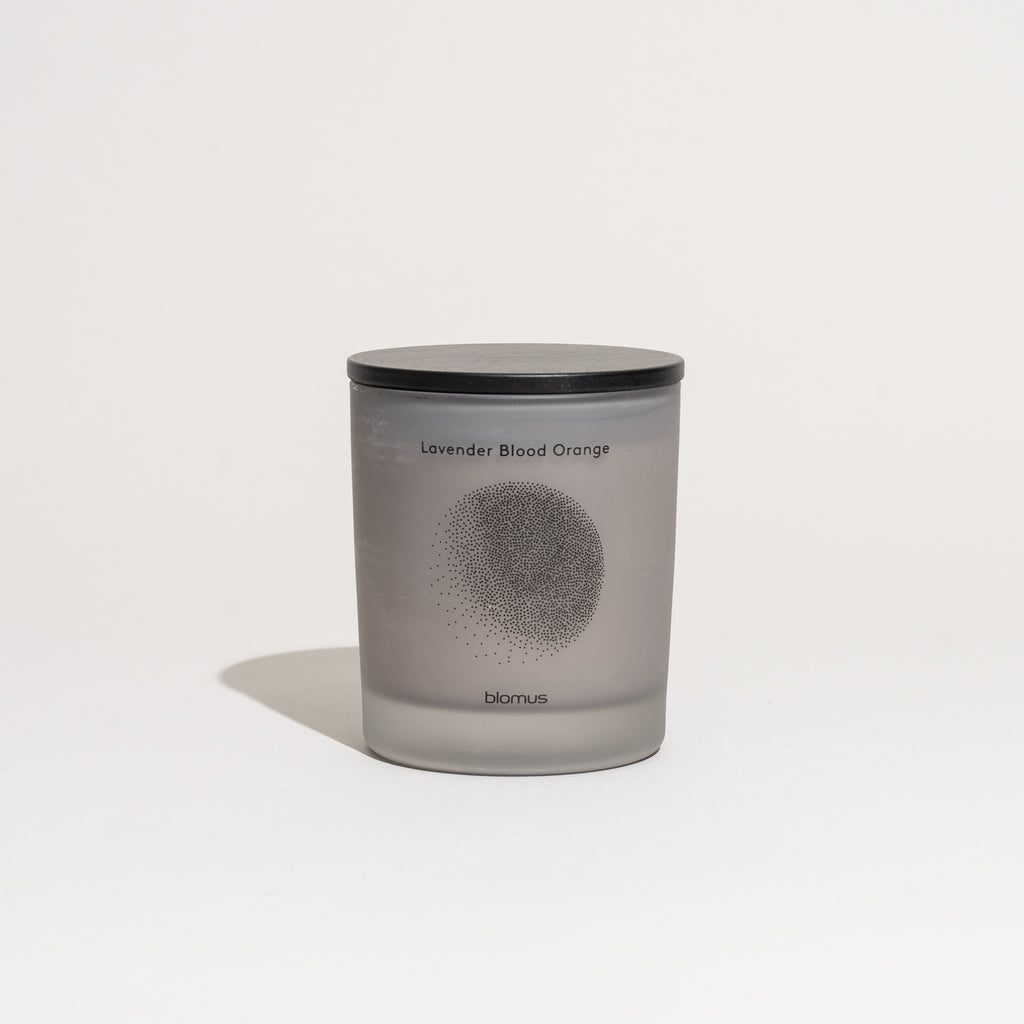 Frosted Glass Candle (Lavender Blood Orange - Large)