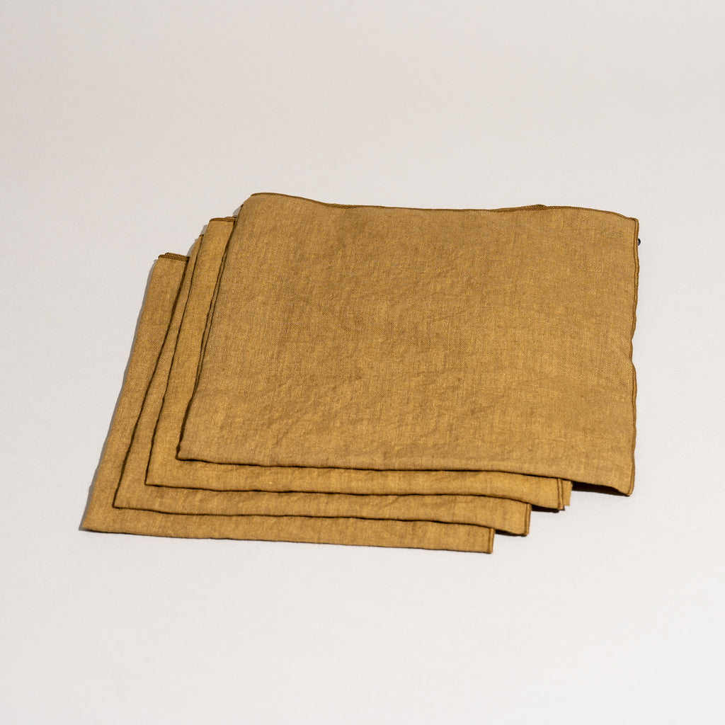 Linen Napkins (Dull Gold)
