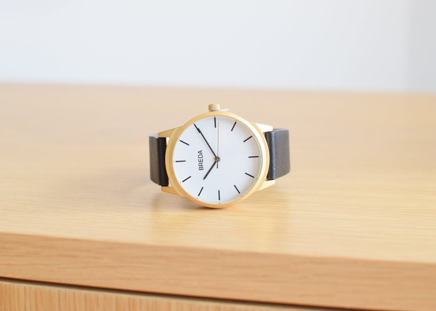The Bresson Watch from Breda in black and gold.