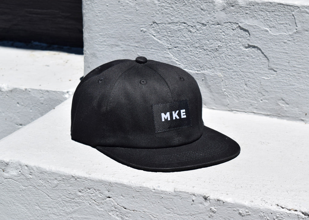 Milwaukee Hat from Commonplace shown from the front with MKE logo.