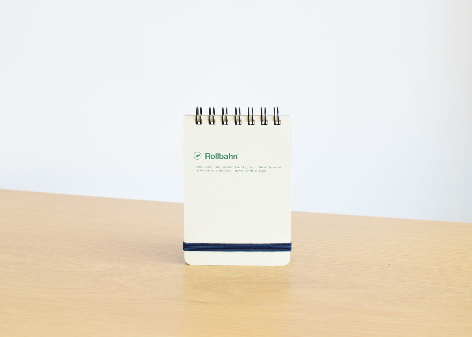 The Rollbahn Spiral Notebook Mini Flip Memo from Delfonics in cream.