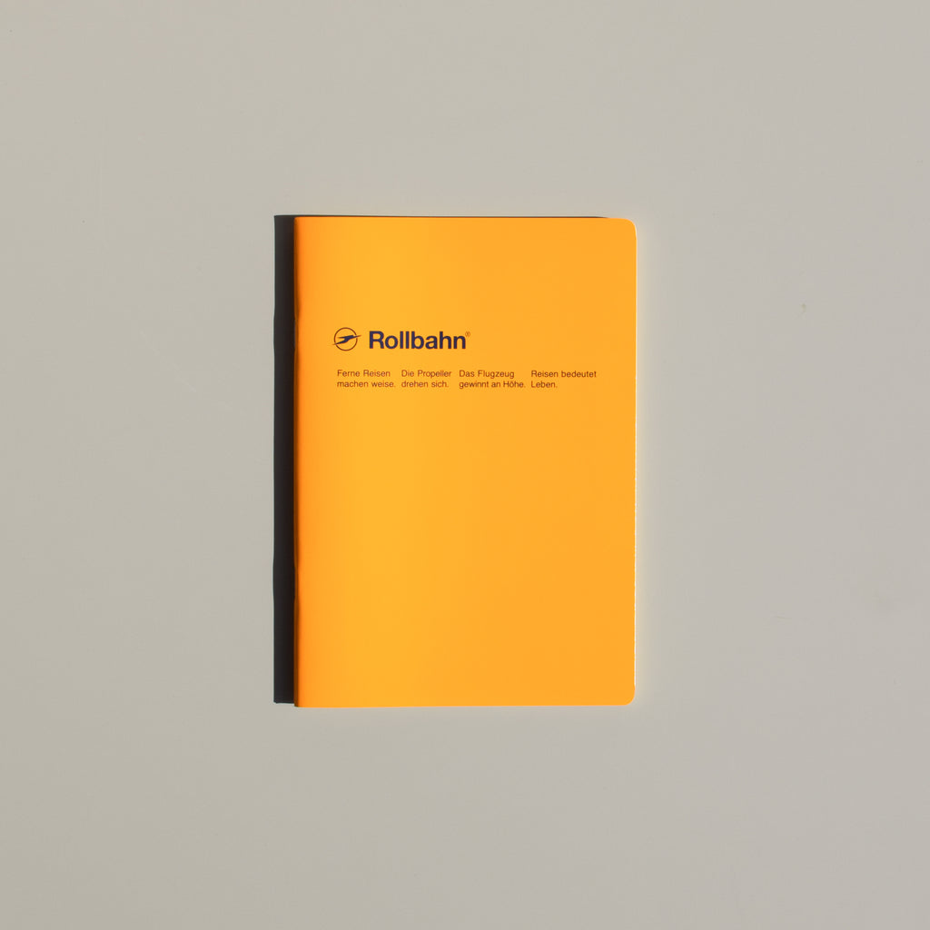 The Rollbahn 'Note' Notebook (A5 Medium) from Delfonics in yellow.