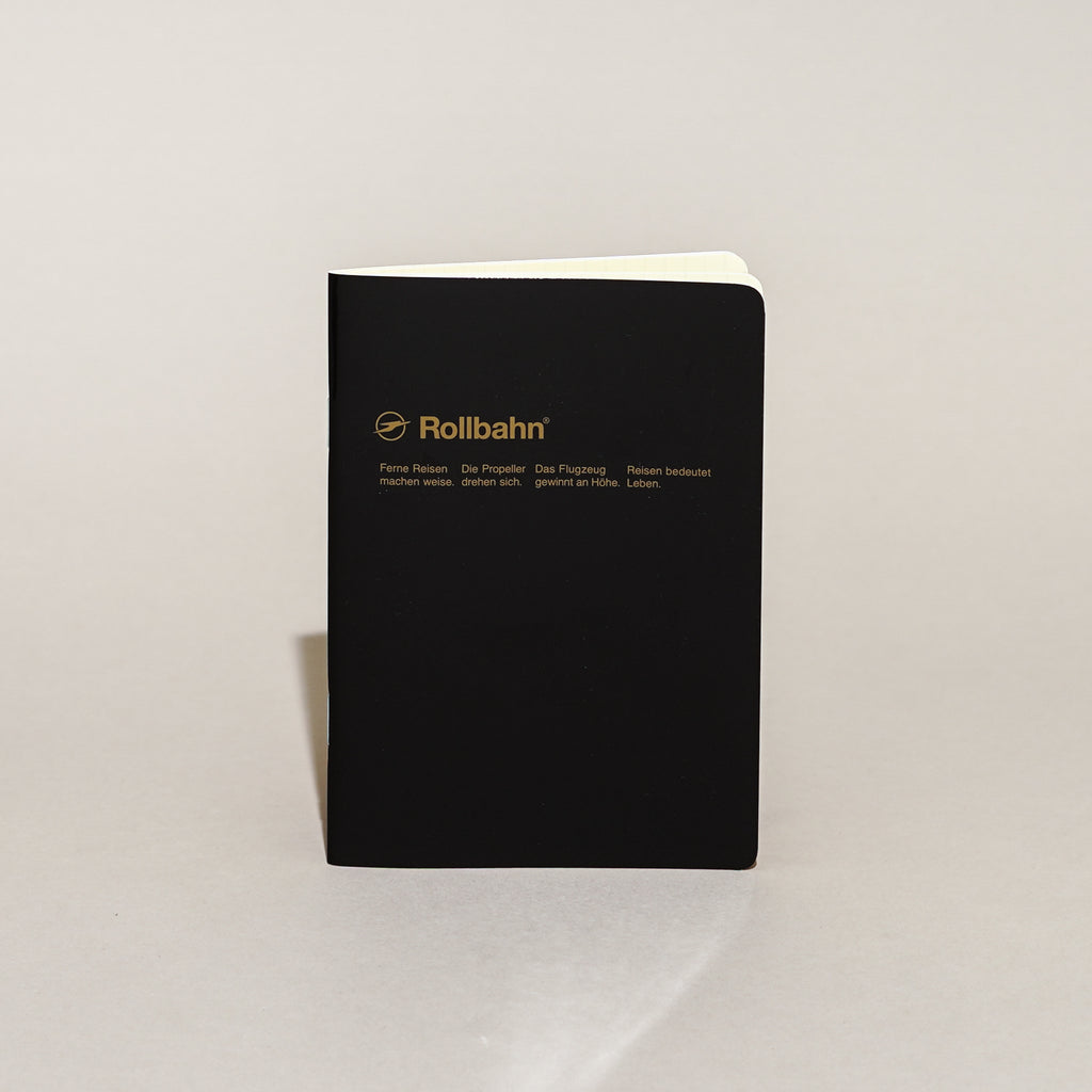 The Rollbahn 'Note' Notebook (A5 Medium) from Delfonics in black.