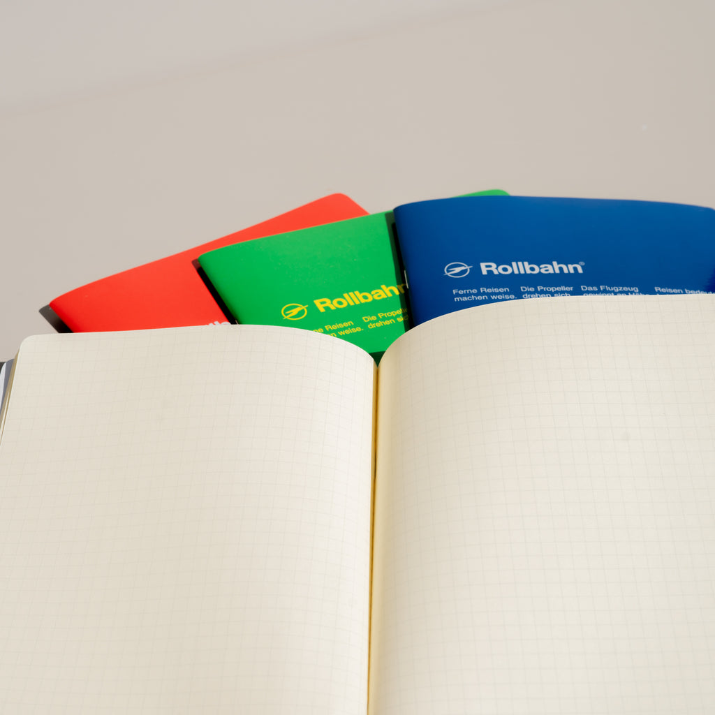 Cream pages fill the pages of the Rollbahn 'Note' Notebooks from Japanese stationary brand Delfonics.