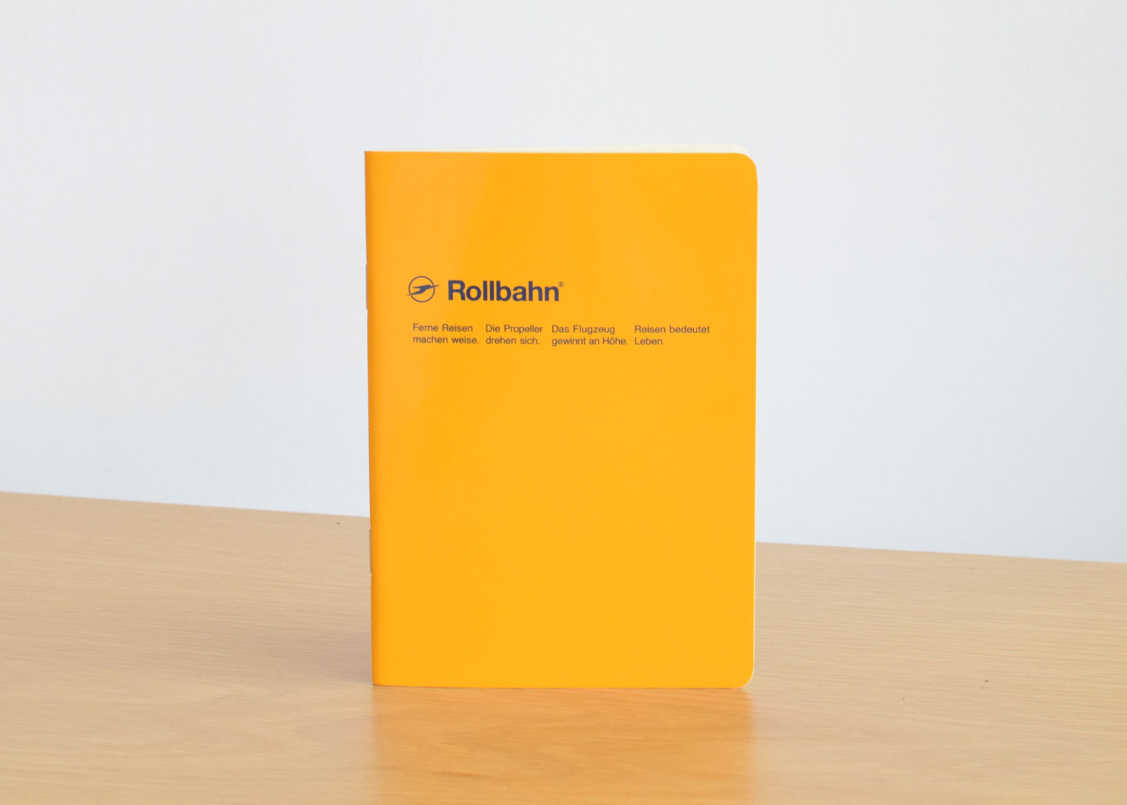 Available in a variety of colors, the Rollbahn 'Note' Notebook from Delfonics is fun and bright.