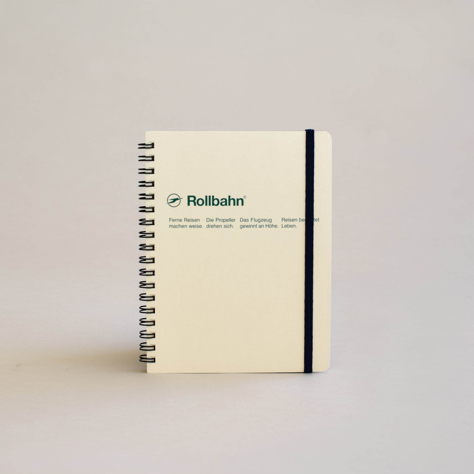 The Rollbahn Spiral Notebook Large Size from Delfonics in cream.