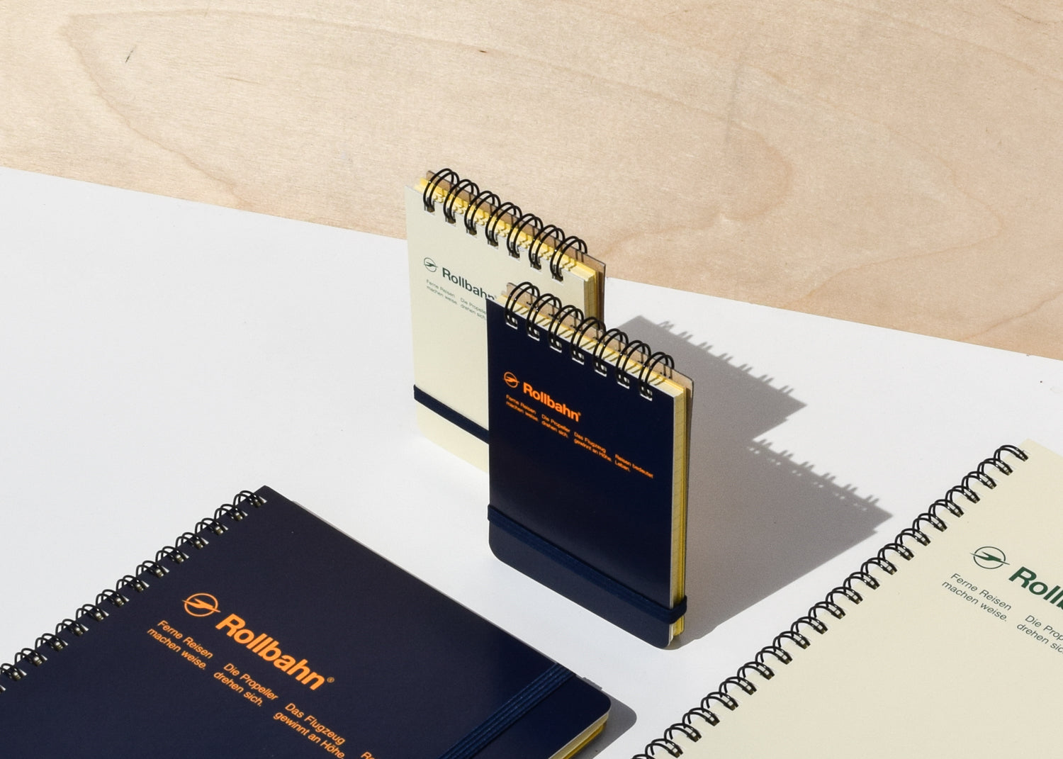 Good for jotting notes or making to-do lists, the Rollbahn Spiral Notebook Mini Flip Memo from Delfonics.