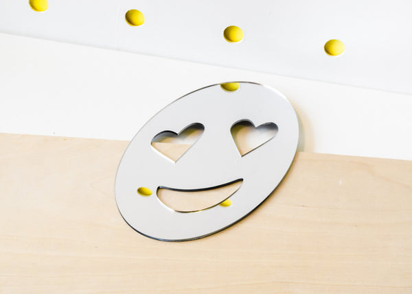 Heart Eyes Emoji Mirror designed by Miguel Ramirez.