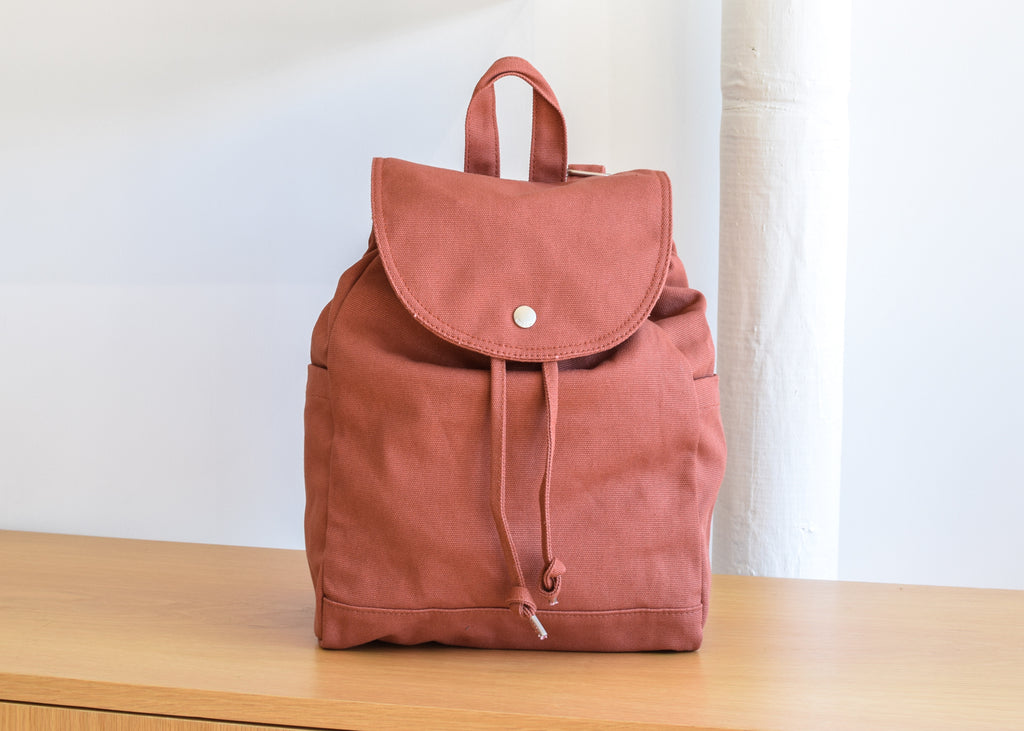 Drawstring Backpack (Terracotta)