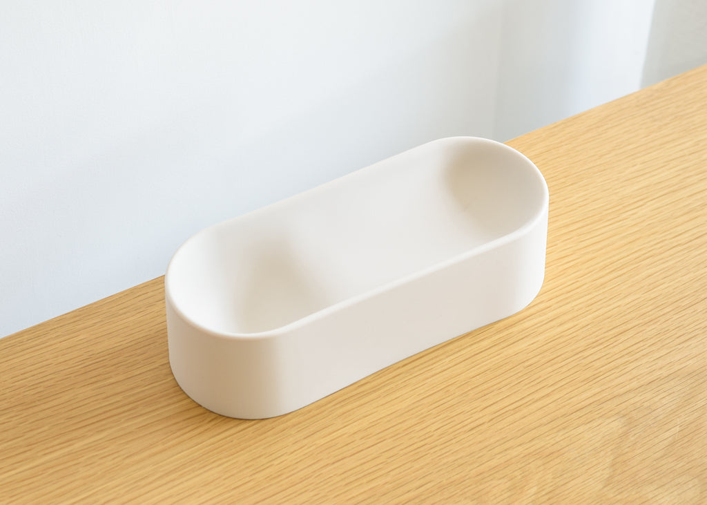 The G3 Vessel (Line) from Good Thing is made of silicone and is food safe, dishwasher safe, microwave safe, and oven safe.