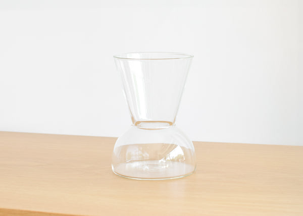 The wide Gather Vase in clear from design brand Good Thing.