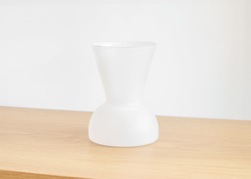 The wide Gather Vase in frosted from design brand Good Thing.