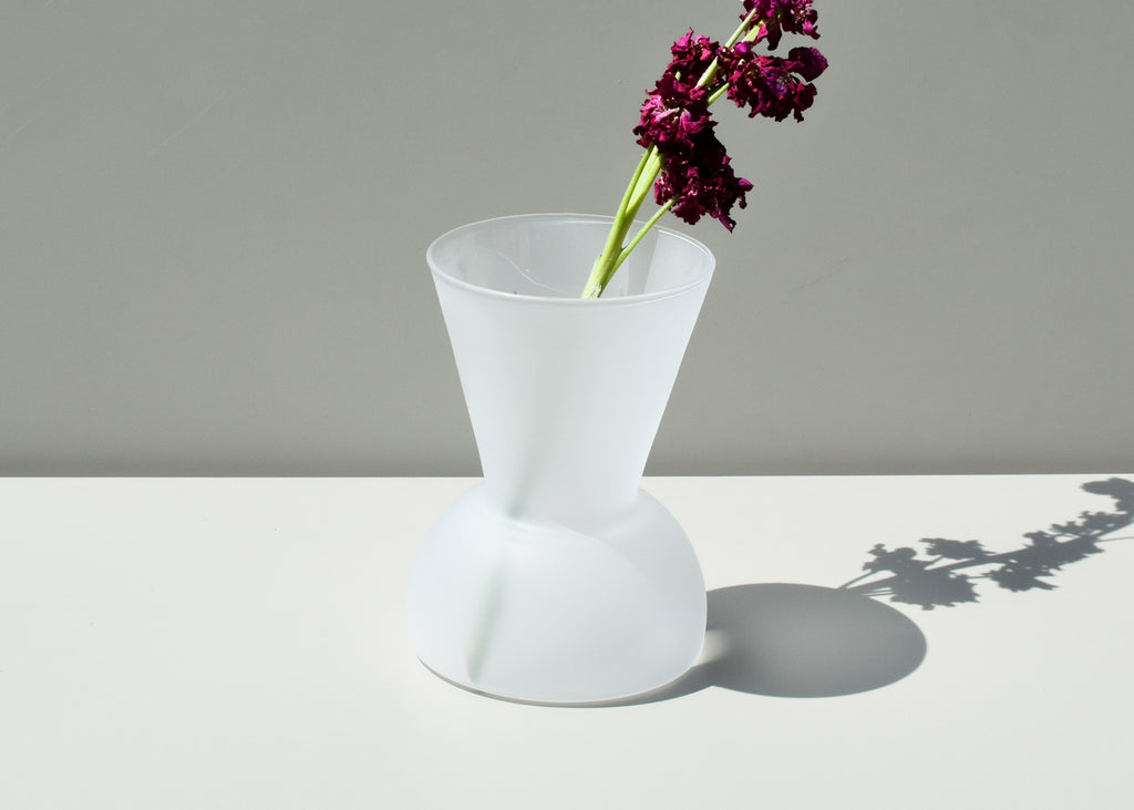 The Good Thing Gather Vase (wide) in frosted is the perfect size for a large bouquet.