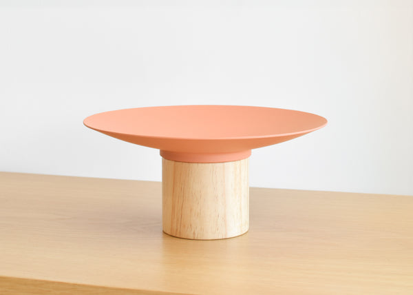 The Platform Bowl from Good Thing in pink is designed to work alone or with other bowls to create a tiered display.