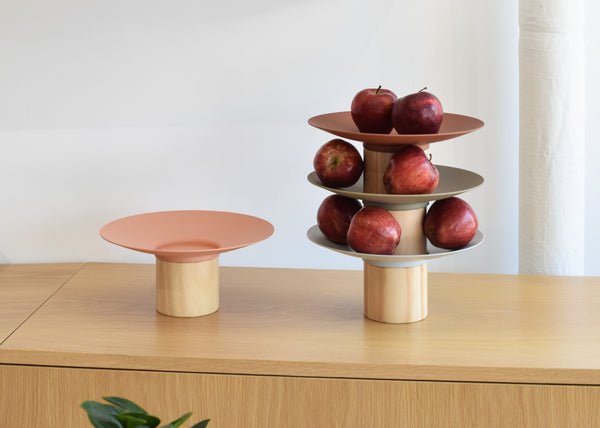When stacked, the Platform Bowls make a perfect display for fruit.