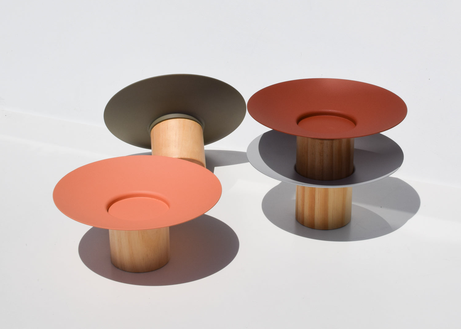Made of steel and pine, the Platform Bowls combine the two materials for an entirely unique design.