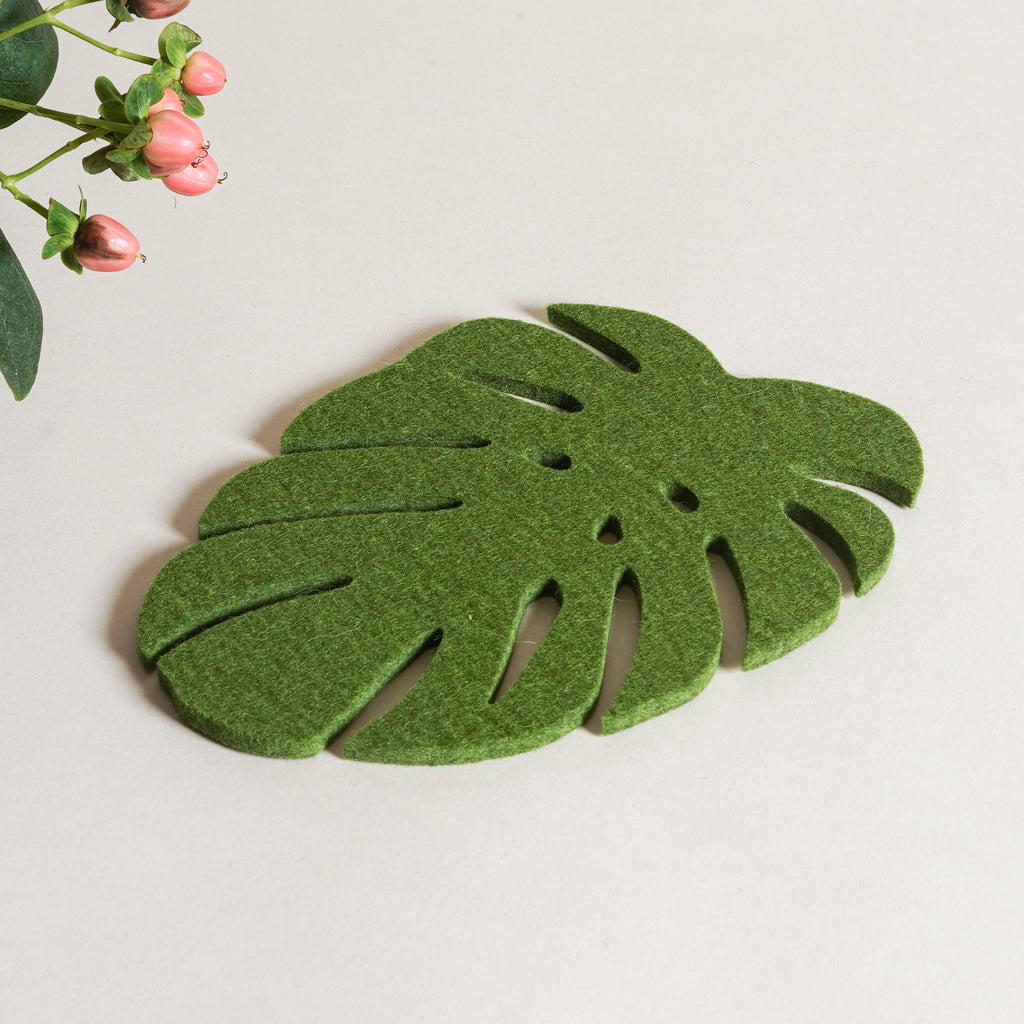 A naturally water resistant felt trivet by Graf Lantz from Commonplace design shop.