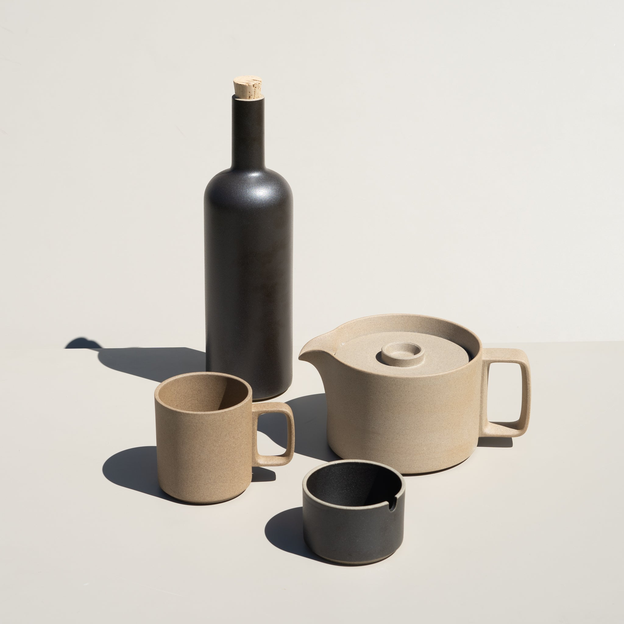 Hasami Porcelain ceramic wares made in Japan, featuring the Sugar Pot in natural finish.