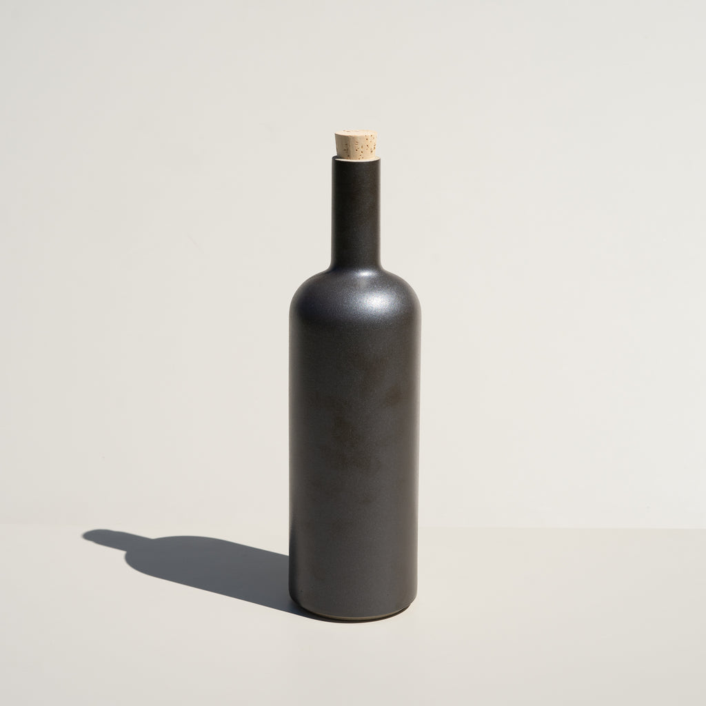 The Hasami Porcelain Bottle in black finish.